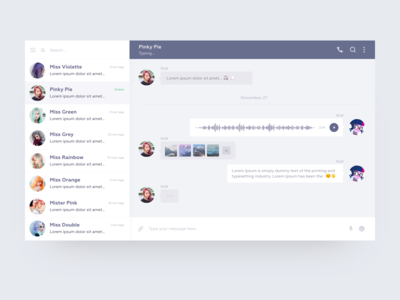 Daily UI Design Challenge #013 —  Direct Messaging
