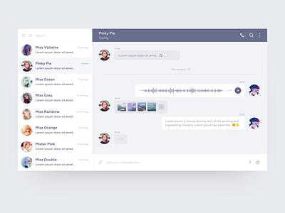 Daily UI Design Challenge #013 —  Direct Messaging messenger daily ui 013 app clean web ux daily ui desktop adobe xd design ui