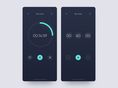 Daily UI Design Challenge #014 —Countdown Timer dark countdown timer app ux daily ui desktop adobe xd design ui