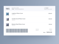 Daily UI Design Challenge #017 — Email Receipt