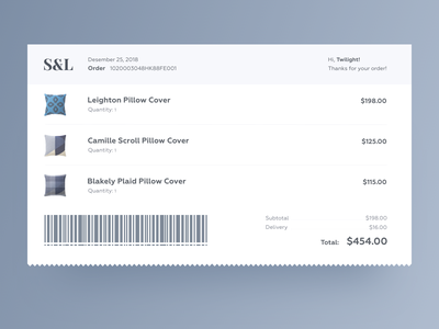 Daily UI Design Challenge #017 — Email Receipt email receipt clean web ux daily ui desktop adobe xd design ui