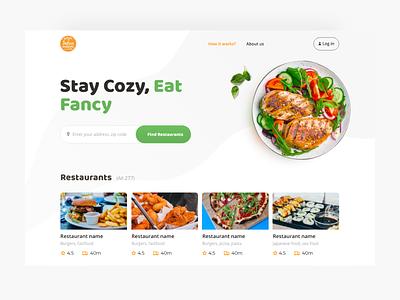 Food delivery website food delivery web desktop adobe xd design ui