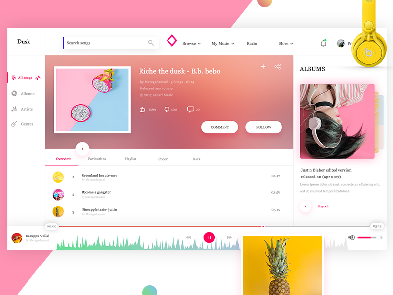 Music Player web