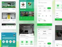 House rental app IphoneX- Green Version