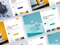 Split Fold Landing Page freebie