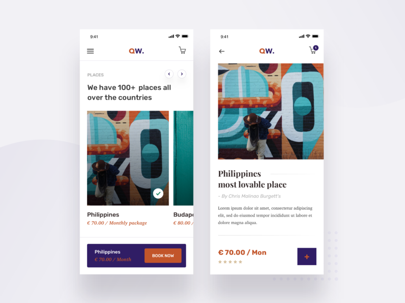Travel Booking app screens typography branding vector app design dashboard gradient landing page trending ui minimal clear modern travel app ecommerce cart iphonex ios ux ui travel