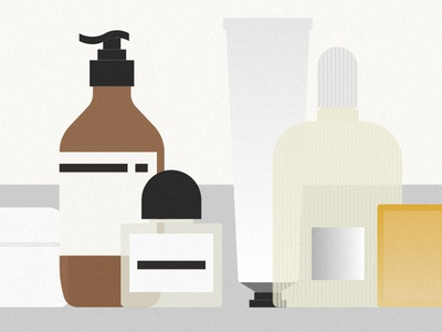 Grooming Products vector illustration