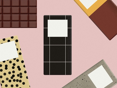 Chocolate! vector texture colour bold illustration illustrator