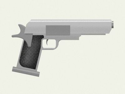 The Gun illustrator design colour vector illustration