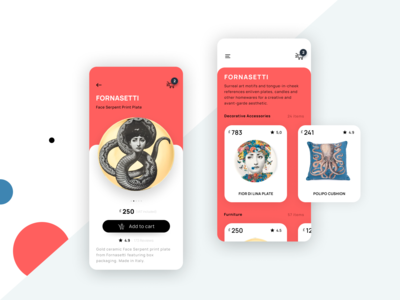 Fornasetti Mobile Shopping UI Concept