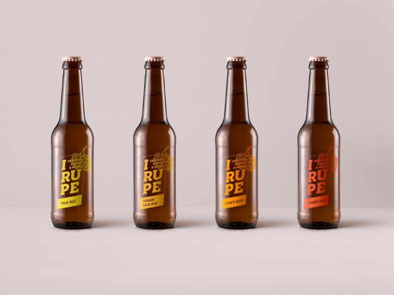 Brand identity for IRUPE / Handcrafted beer brand
