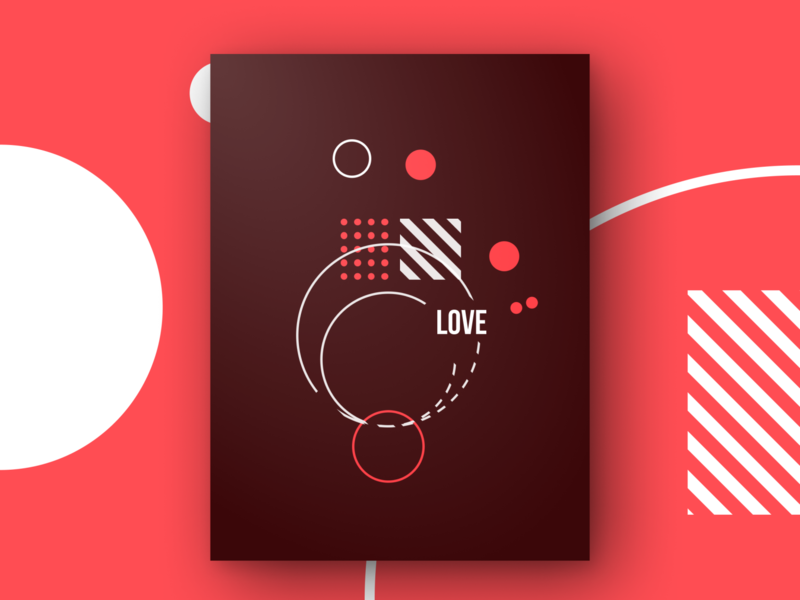 Love Poster valentine day valentine red vector branding warmup poster art figma design figmadesign typography weekly warm-up abstract design poster design love poster weeklywarmup