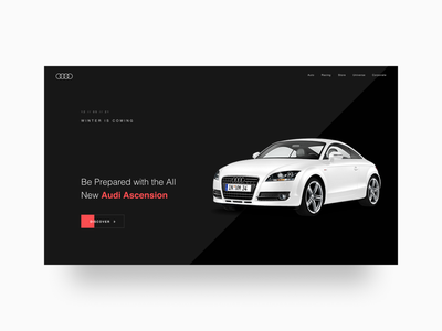 Creative concept for Audi ui design car website car design auto landing page car landing page car audi landing page web ui figma design