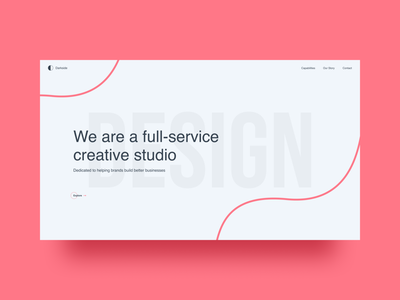 Darkside Studios typography creative website agency website creative agency agency vector web designer madewithfigma figma interface design interface ui design ui webdesign landing page web design