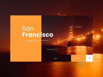 San Francisco Hero Exploration interfacedesign interface uiuxdesigner website design website uiuxdesign uiux uidesign web design web webdesign madewithfigma branding typography design figma ui design ui