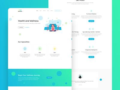 BioWellness mental health figma meditation gradient uidesign web design web ui