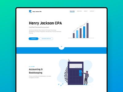 Henry Jackson  CPA figma accountant illustration undraw website app design web design ui design ui