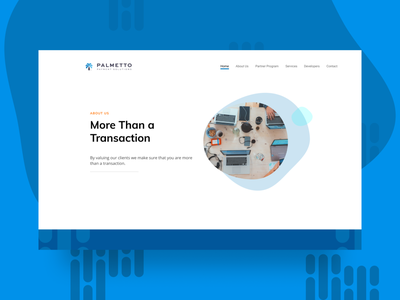 Palmetto Payment Solutions landing page hero section made with figma figma pos app pos point of sale payment app web design ui design ui