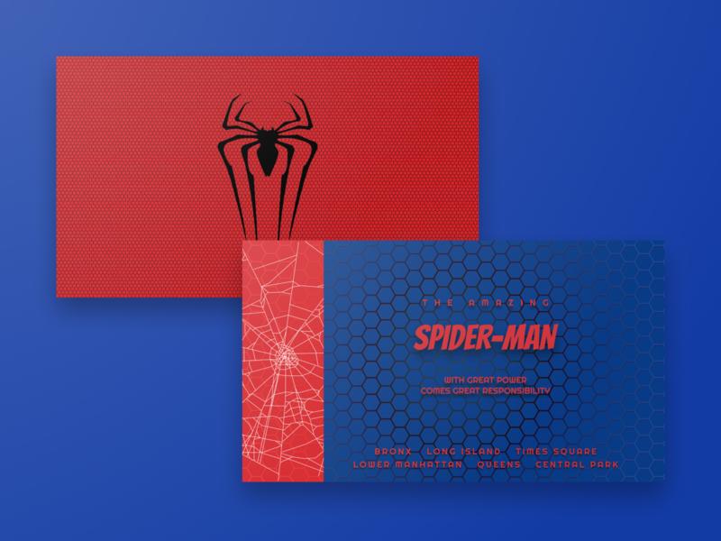 TASM Business Card superhero red blue design spider-man spiderman business card businesscard weekly warm-up