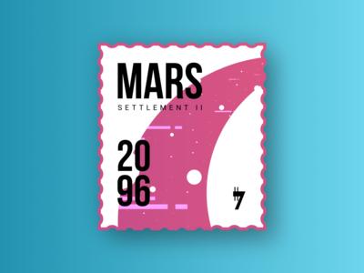 Mars 2096 Stamp
