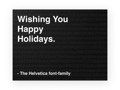 Helvetica Holiday Card design figma typography blackandwhite holiday card holiday helvetica dribbbleweeklywarmup