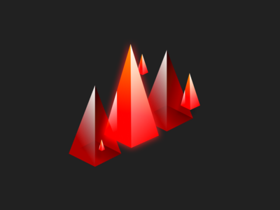 Fiery Jewel Pyramids