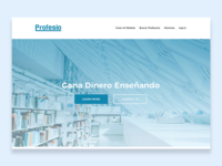 Homepage Design for Profesio