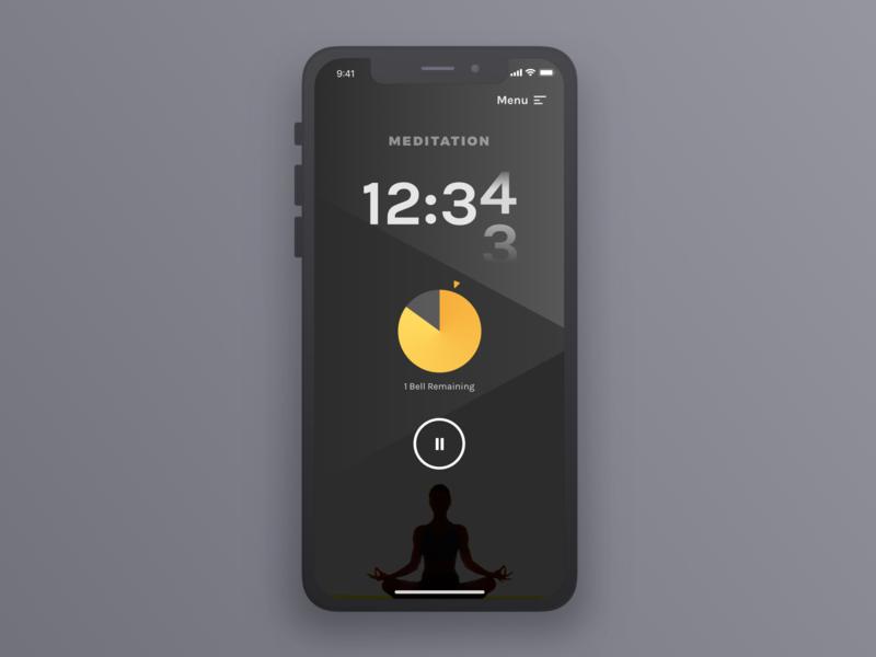 Daily UI 014 - Timer meditation ios mobile timer design dailyui ui ux sketch