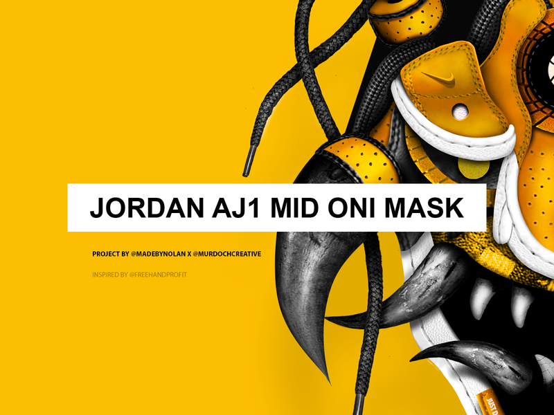 Jordan AJ1 Mid Oni Mask by Nolan Nicholson on Dribbble