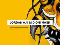 Jordan AJ1 Mid Oni Mask