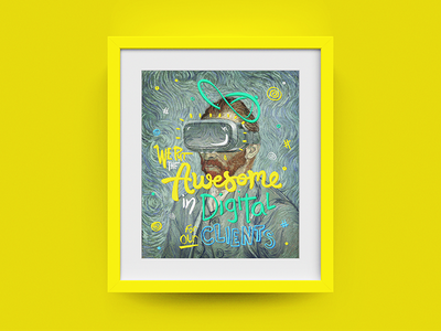 Deloitte Digital Frame #02 - Van Gogh vr van gogh frame type colors photoshop illustration
