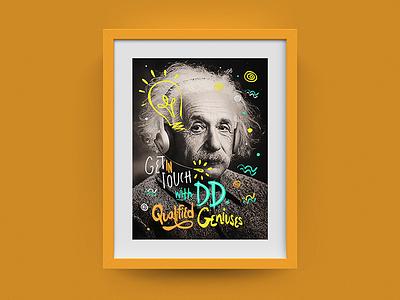Deloitte Digital Frame #04 - Einstein einstein frame type colors photoshop illustration