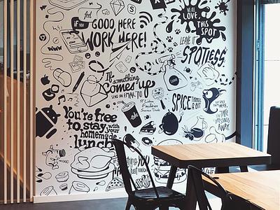 DD_Rules portugal coffee typography art restaurant rules food cantine illustrator adobe vector branding digital design deloitte illustration photoshop