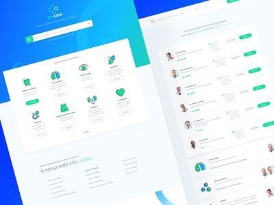 Mycare portugal medis sketch layout design web vibrant green blue prototype digital deloitte doctor medical