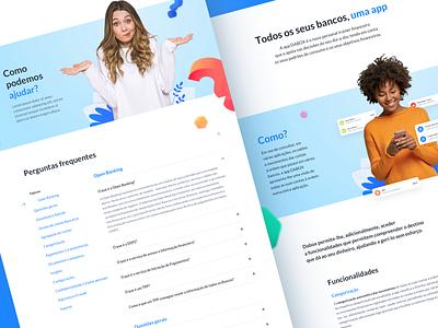 Dabox Website accounts banks website moneze monzo yolt revolut blue sketch psds colors app open banking adobe ux ui design portugal digital deloitte