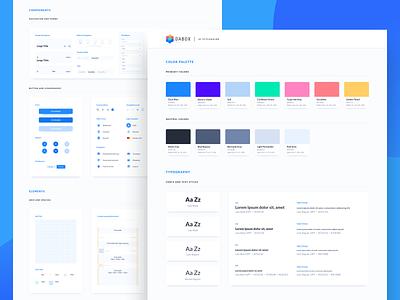 Dabox_app_styleguide clean simple bootstrap styleguide bank yolt monese monzo revolut tink open banking branding ui design portugal colors digital deloitte