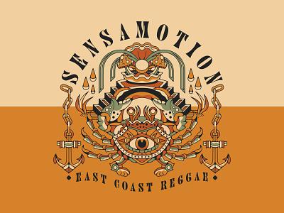 Sensamotion Crab logos logotype apparel claw ocean sea reggae mushroom oyster clam crab anchor animal geometric branding eye vintage logo design illustration