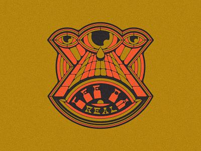 Cee Da Real geometric vintage logo design drip color rap tattoo typogaphy eyeball logotype type psychedelic eyes branding brand logo eye
