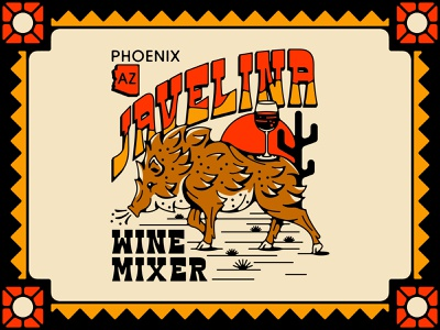 Javelina Wine Mixer plants nature wildlife pig wine sand shirt phoenix arizona desert sun cactus javelina boar