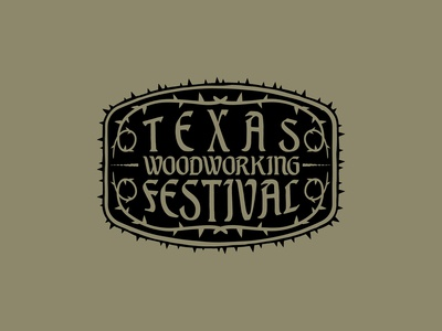 Texas Woodworking Festival - Crest Design