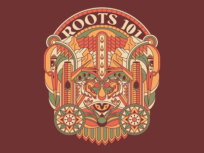 Roots 101 - Northern California Tribute beak monoline geometric arch shirt compass seed tree northern california california redwood roots eye flower mountain cougar puma mountain lion kingfisher bird