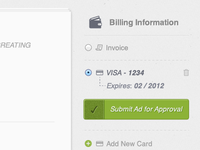 Billing Screen form forms billing credit card ui interface