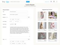 Website Feature Design - Etsy Custom