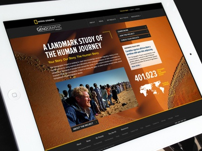 Genographic Project genealogy client national geographic genographic project web design