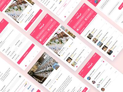 Nikah.yuk payment problem solving study case wedding app wedding pink simple app typography icon flat ui clean