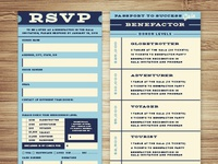 University Academy Gala RSVP Card