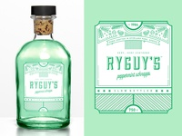 RyGuys Peppermint Schnapps Label