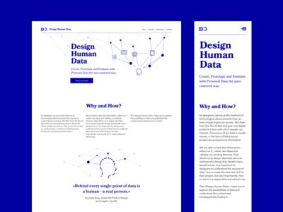 Design Human Data - Design Framework for Personal Data
