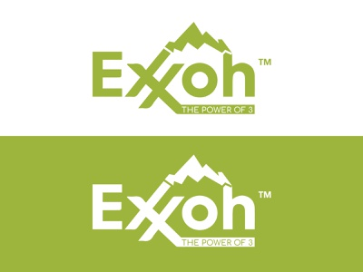 Exxon The Power of 3 - Gas Stations company logo design art logo design concept logo design branding flat vector logos best designer on dribbble logo designer graphicdesign minimal trendy design logotype mountain logo gas station logo online shopping design logo design logo fashionable branding