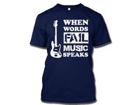 Music love T-shirt Design
